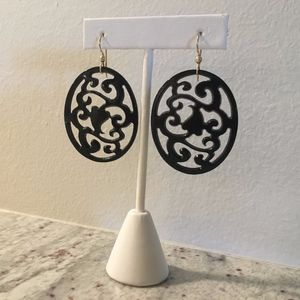 Dangle Earrings Oval Shaped